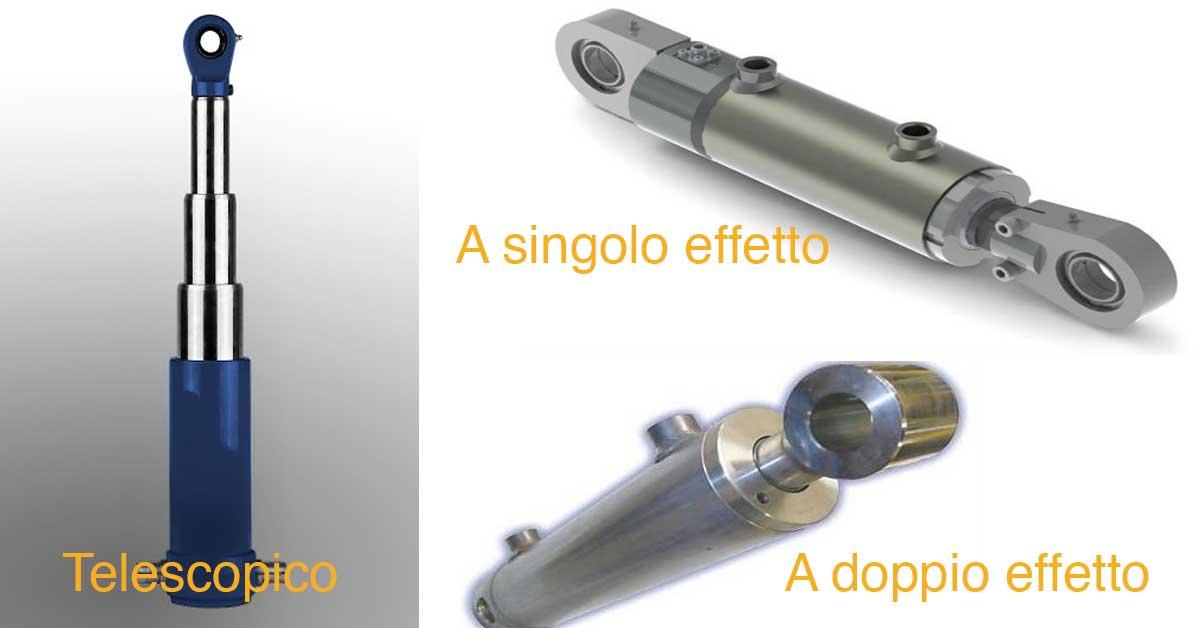 cilindri oleodinamici telescopici a singolo doppio effetto