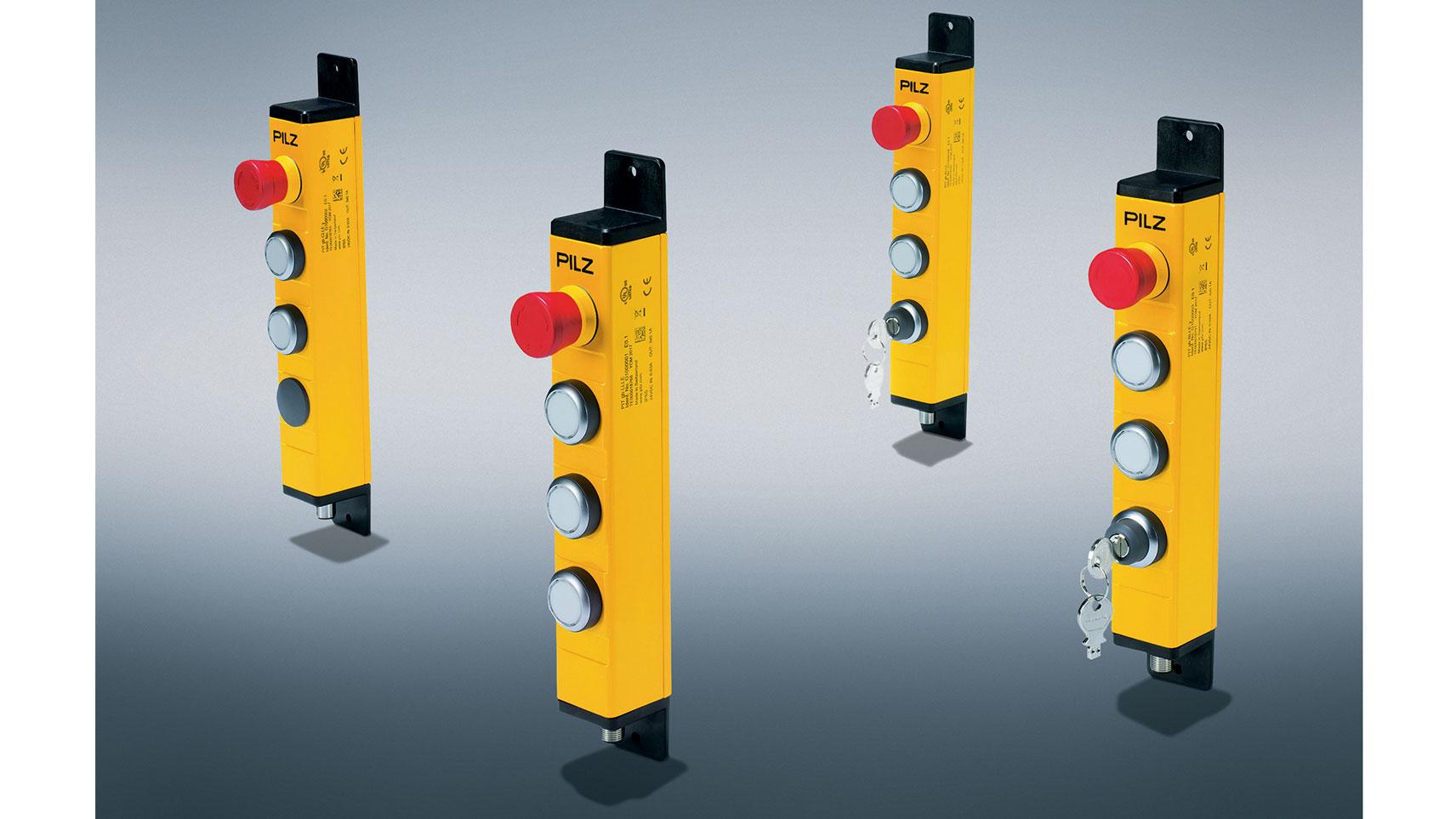 Unità pulsanti PITgatebox <br< Semplicità di utilizzo del sistema per ripari mobili